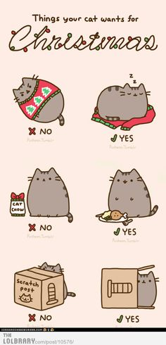 Cat Christmas pusheen