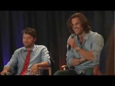 "This video KILLS me! Misha's freak-out throws me into hysterics. And Jared's face when he does! ""I think there's subliminal messages"" Hahaha the things parents do for their children XD"