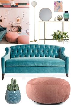 Teal and blush pink minimal living room decor Everything beautiful with this liv. Teal and blush pink minimal living room decor Everything beautiful with this living area decoration Cheap Living Room Furniture, Living Room Sofa, Teal Rooms, Teal Sofa Living Room, Teal Living Rooms, Loungeroom Decor, Trendy Living Rooms, Couches Living Room, Teal Living Room Decor