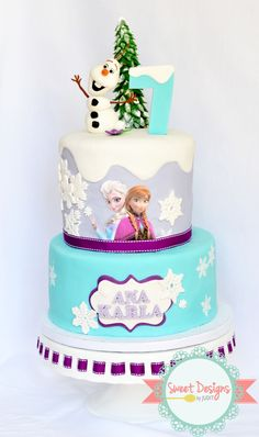Frozen Birthday Cake - thank you @Toni White  for your help!!