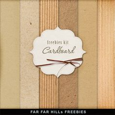 Far Far Hill - Free database of digital illustrations and papers: Freebies Kit of Cardboard Backgrounds