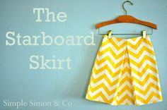 Simple Simon and Company: The Starboard Skirt Tutorial for girls: free!