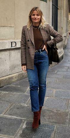 Musa do estilo: Sabina Socol - Guita Moda Blazer Fashion, Fall Fashion Outfits, Winter Outfits, Casual Outfits, Fashion Trends, Parisienne Style, Look Blazer, French Girl Style, Winter Mode