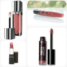 Favorite lip colors  Maybelline Color Elixir in Caramel Infused, Urban Decay Lip Junkie in Naked, Revlon Colorburst Lipstick in Rosy Nude, BareMinerals Pretty Amazing Lipstick in Courage.
