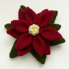 Crochet Poinsettia Tutorial