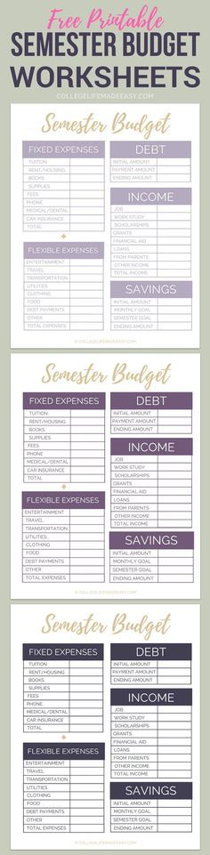 printables for college students