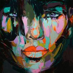 Francoise Nielly canvas Painting Palette knife Face oil painting wall art pictures for living room home decor caudros decoracion Art And Illustration, Illustrations, Arte Pop, Pop Art, Images D'art, Art Visage, Fine Art, French Artists, Art Design