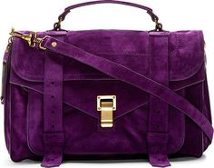 Proenza Schouler Grape Jam Purple Suede Ps1 Medium Satchel
