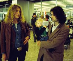Robert Plant and Jimmy Page with daughter Scarlet