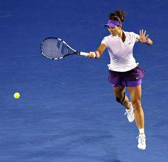 Li Na in the Australian Open Final.