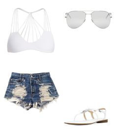 """""""💕"""" by melodyleighmitchell on Polyvore featuring Mikoh, Levi's, Michael Kors and Yves Saint Laurent"""