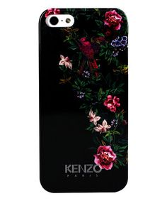 Another great find on #zulily! Black Floral iPhone 5/5s Case by KENZO #zulilyfinds