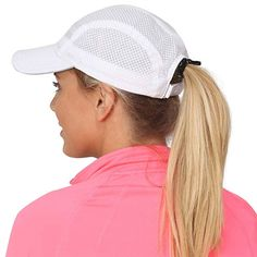 f1a46aa655e20 Amazon.com  TrailHeads Women s Race Day Running Cap-Performance Hat - white