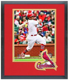 """11"""" x 14"""" Framed & Matted Yadier Molina St. Louis Cardinals- Studio Photo Pluses"""