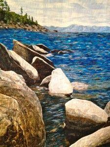 Land/seascape quilt
