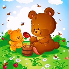 Bear Cartoon, Tweety, Winnie The Pooh, Illustrators, Diy And Crafts, Pikachu, Cute Animals, Doodles, Clip Art