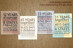 Personalized Wedding Anniversary Gift: Your Loves Journey By the Numbers. $39.00, via Etsy.