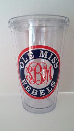 Personalized Ole Miss Rebel TumblerMonogram Ole by KissMyMonograms