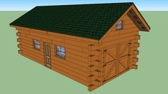 Log Cabin Garage with temporary housing. - 3D Warehouse