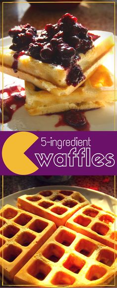 Delicious crispy waffles from just 5 basic ingredients. Perfect for sweet or savoury toppings like fruit syrup cheese or ice-cream. - Waffle Maker - Ideas of Waffle Maker Waffle Recipe Without Eggs, Easy Waffle Recipe, Waffle Maker Recipes, Savory Waffles, Pancakes Easy, Homemade Waffles, Beignets, Waffel Vegan, Crispy Waffle