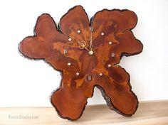 Natural Wood Tree Slab Clock Vintage Cypress Trees Slice W