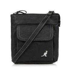Kangol Black grained logo cross body bag- at Debenhams.com 6e506786594a2