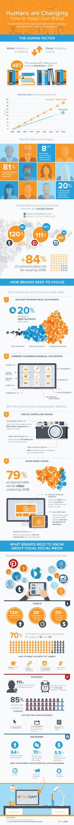 What's up with visual content? This dramatic infographic proves why visual content is here to stay – and will only become more important as time passes!