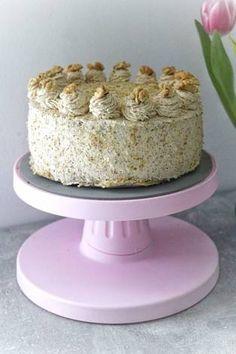Diétás hagyományos diótorta Vanilla Cake, Gluten, Sugar, Healthy, Recipes, Food, Essen, Meals, Eten