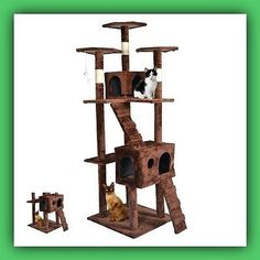 Big Cat Tower Tree Fancy House Huge Scratcher Condo Furniture Pet Play Toy Kitty