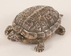 Buccellati Italian sterling silver turtle form box.