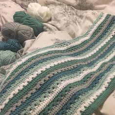 Getting there loving these colours from @stylecraftyarns using @attic24 cosy stripe pattern #crochet #crocheting #crochetaddict #blanket #babyblanket #handmade #gift #yarn #yarnaddict #babyboy #crochetblanket #WIP #progress by rachy_la