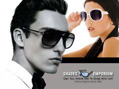 No matter #men or #women, #sunglasses always make them #shine.http://www.shadesemporium.com/