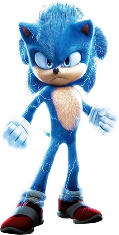 Full-body render of Sonic from the new Japanese poster Sonic The Hedgehog, Hedgehog Movie, Shadow The Hedgehog, Sonic 3, Sonic And Amy, Sonic And Shadow, Sonic Cake, Sonic The Movie, Sonic Party