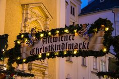 Christmas Market sign oldstyle Live For Yourself, Vienna, Christmas Lights, Sign, World, Travel, Christmas Rope Lights, The World, Viajes