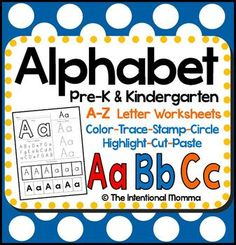 Alphabet Practice and Recognition Pack $4.50