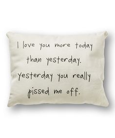 Collins I Love You More Throw Pillow | zulily