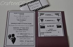 Movie Themed Wedding Invitations