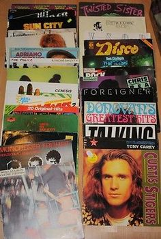 Vinyl-Sammlung-Rock-Pop-Twisted-Sisters-Tina-Turner-Chris-Rea-Genesis