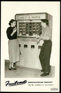 Fruit-O-MaticVendingMachine Ad #fruitomatic #vintage #vending