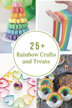 Nothing say St.Patricks Day and Spring more than Rainbows! When I see anything rainbow it just makes me happy! The bright colors just seem to brighten my day. Today I will be sharing some Rainbow Crafts and Treats to brighten your day as well! St Patricks Day Crafts For Kids, Diy Crafts For Kids, Craft Ideas, Kids Diy, Diy Ideas, Rainbow Treats, Trending Crafts, St Paddys Day, Luck Of The Irish