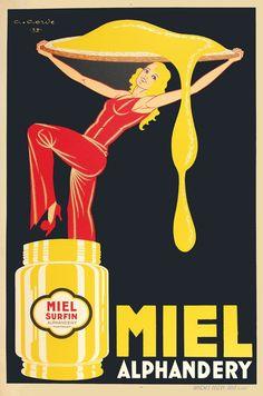 "PG426 ""Miel Alphandery"" Poster by Gaston Gorde (1932)"