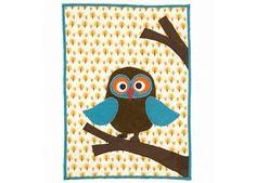 zachte baby quilt 'owl' Ferm Living | kinderen-shop Kleine Zebra