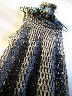 VMSomⒶ KOPPA Crochet Tunic, Love Crochet, Beautiful Crochet, Diy Crochet, Crochet Clothes, Crochet Top, High Collar Dress, Crochet World, Crochet For Beginners
