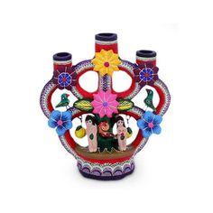 NOVICA Fair Trade Christmas Ceramic Candle Holder ($43) ❤ liked on Polyvore featuring home, home decor, candles & candleholders, candleholders, candles & lighting, christmas candles, xmas candle holders, christmas candle holders, leaves candle and novica home decor