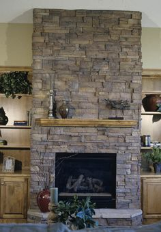 River Rock Fireplace Refacing | ... To Reface A Brick Fireplace ...