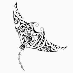 TATTOO TRIBES: Tattoo of Tere, Sailing tattoo,manta bat canoe waves tattoo - royaty-free tribal tattoos with meaning