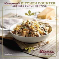 Romano's Kitchen Counter - Express Lunches in 7 minutes of less or its free - Print the coupon to get 2 meals for $10