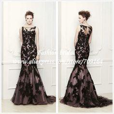 Black and White Mermaid Wedding Dresses Elegant Lace Tank TH1390 on AliExpress.com. $199.97