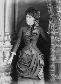 Wonderful Victorian fashion,  fall 1883 (as per the hat style)