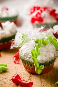 Homemade Hot Cocoa Mix Gift Idea - Package it in Cupcake Liners!  So cute! :)